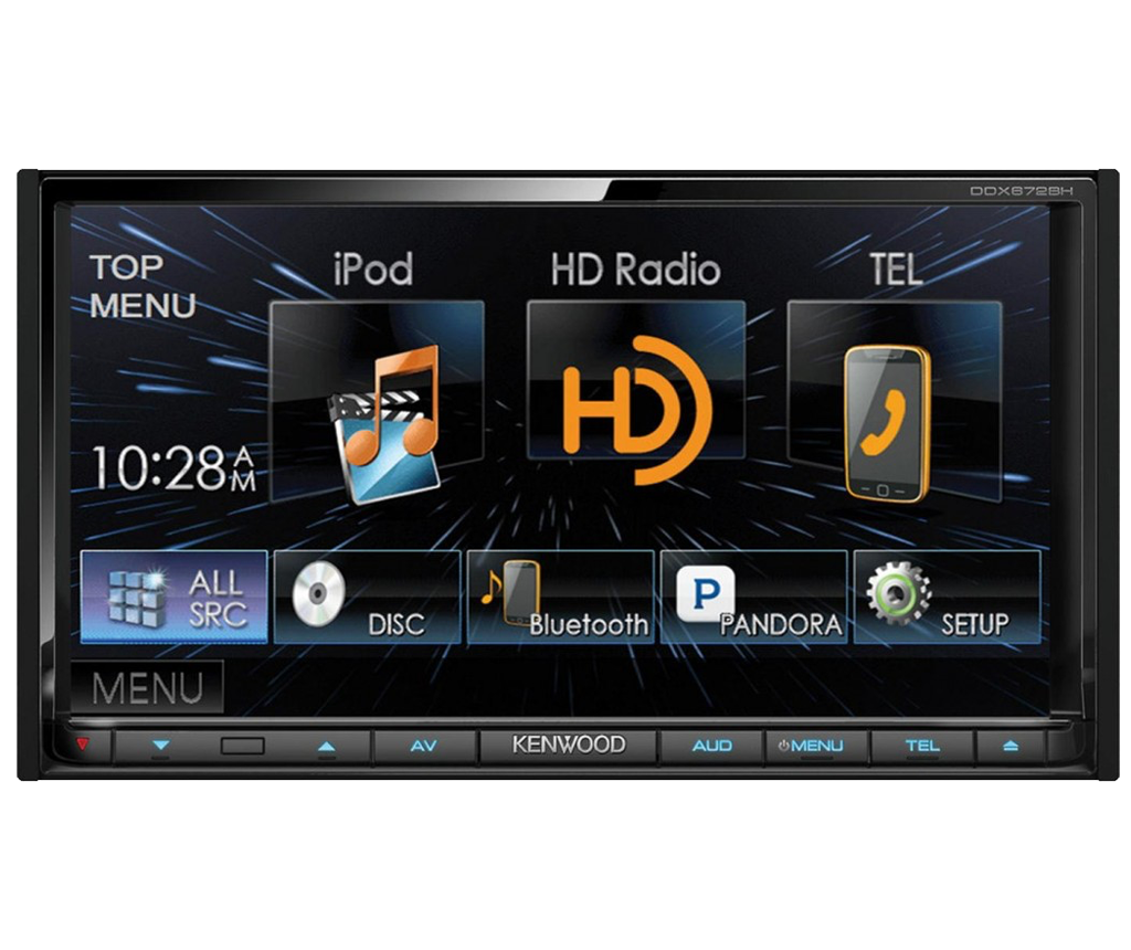 Kenwood touch screen car radio image